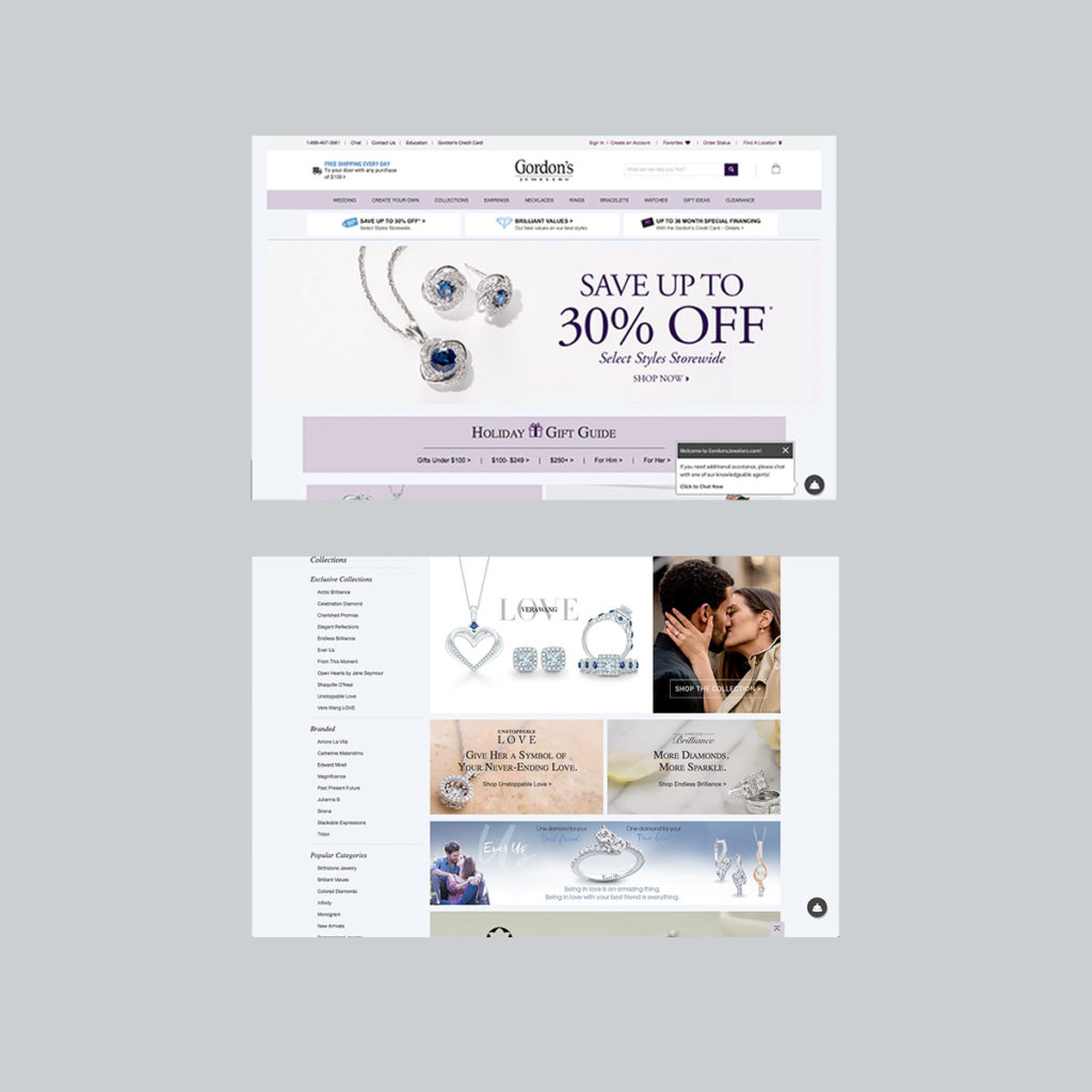 Signet Jewelers, Zales Jewelry, Gordons Jewelers , Website Design, complex website, wordpress site, digital design, website designer, mobile designer, responsive design, mobile-first design, animated gif, animation