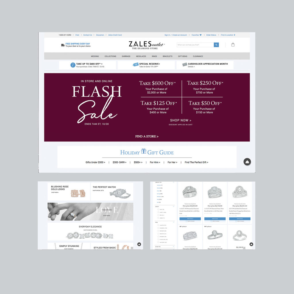 Signet Jewelers, Zales Jewelry, Gordons Jewelers , Website Design, complex website, wordpress site, digital design, website designer, mobile designer, responsive design, mobile-first design, animated gif, animation
