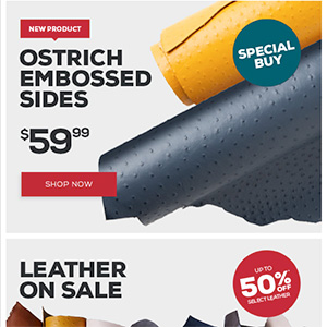 Tandy Leather, leather goods, hides, email, email design, great email design, award-winning email design, optical lure, optical lure digital design